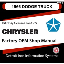 1966 Dodge Truck Factory Shop Manual, CD