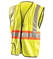 High Visibility Premium Solid Two-Tone Expandable Vests