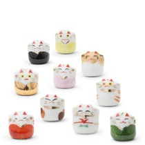 Ceramic Mini Figurines - Fortune Cat
