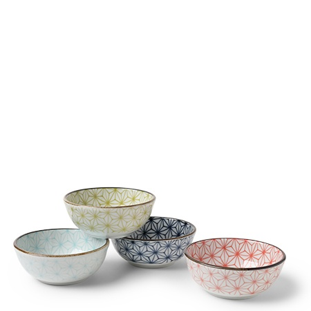 Asanoha 3 oz. Sauce Bowl Set