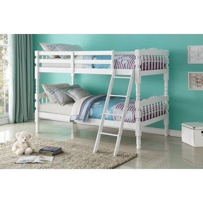 02298_KIT HOMESTEAD WH TWIN/TWIN BUNKBED