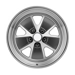 16 x 8 Styled Alloy Wheel, 5 on 4.5 BP, 4.5 BS, Charcoal / Machined