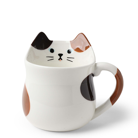 Mug Calico Cat Shaped