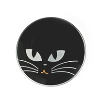 "CAT EYES 4.5"" GLASS DISH - BLACK"
