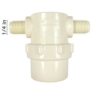Nylon Low Profile MPT Strainers - Nylon Bowl