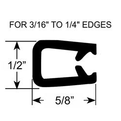 "3/16"" to 1/4"" Pinch Top Edge Trim Seal"