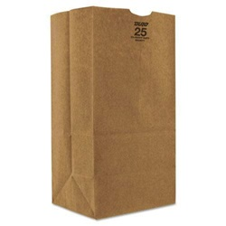 25# SHORT GROCERY BAG, 8-1/4 X 6-1/8 X 15-7/8, DURO, 500/BD   18428