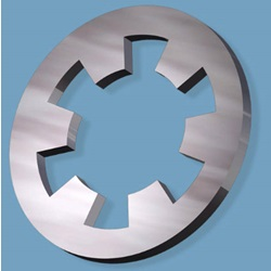 "#6 Lock Washer, Internal-Tooth, .150"" ID X .295"" OD X .017"" Thick, 400 Series Stainless Steel"