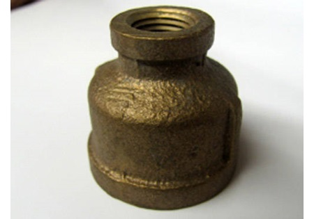 "Brass 3/8"" x 1/2"" FPT Reducer Coupling"