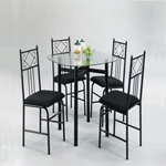02520BK 5PC PK DINING  w/36x36 5mm GL