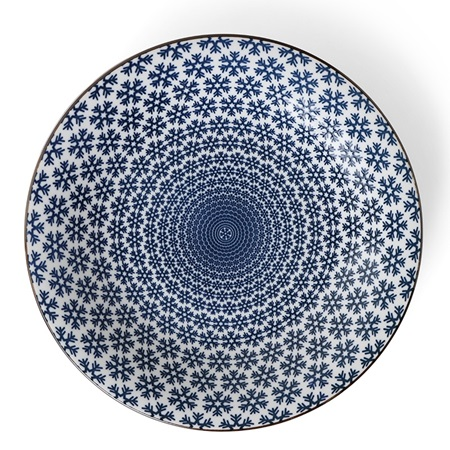 "Blue & White Snow 11"" Plate"