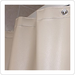 Shower Curtain, 10 Guage San Suede Champagne