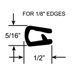 "1/8"" Pinch Top Edge Trim Seal"