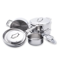 8 Piece 5-ply Stainless Steel Cookware Set