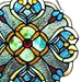 12'H Vintage Style Stained Glass Window Panel