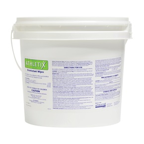 Athletix® Disinfectant Wipes Dispenser Bucket Pre-Loaded With Wipes