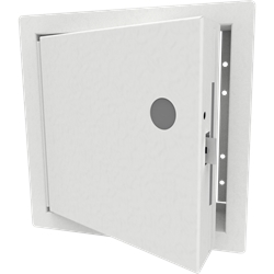 Fire-Rated Security Access Door with Flange, Mortise Lock Prep