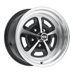 15 x 8 Magnum Alloy Wheel, 5 on 4.75 BP, 4.75 BS, Gloss Black / Machined