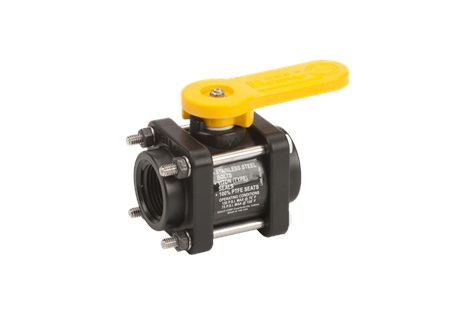 "1"" Banjo Standard Port Ball Valve - 4 Bolt - Polypropylene"