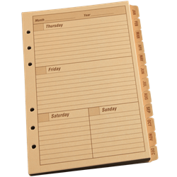 WEEKLY CALENDAR PLANNER COMPONENT