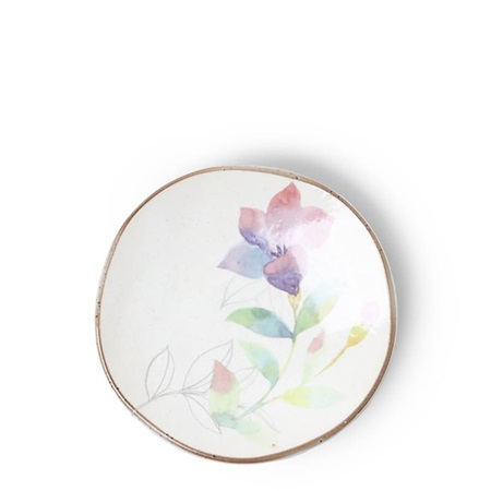 Floral Mini Plate Purple Pink