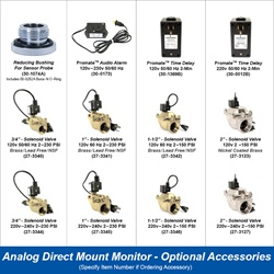 Analog Direct Mount Monitor - Optional Accessories