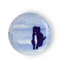 Blue Cat Sitting Plate