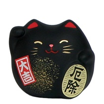 "FENG SHUI CAT 2.25"" - BLACK"