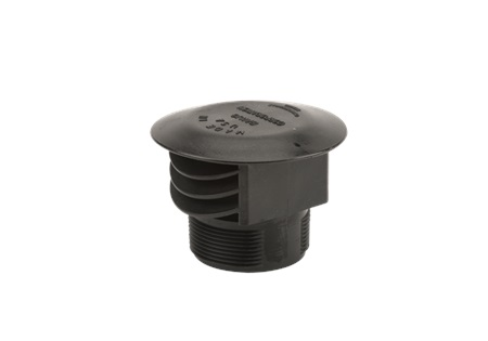 "3"" MNPT Anti Vortex Vent Cap With Screen Tank Fitting - Poly"
