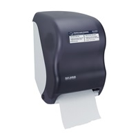 San Jamar Black Touchless Towel Dispenser w/Hand Washing Chart