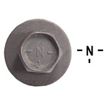 "67-73 Small body bolt with Disc (Black with ""N"")"