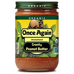 Organic Peanut Butter, Crunchy (With Salt) - 16oz