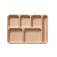 Cambro PS1014161 Penny-Saver School Tray 6-Compartment