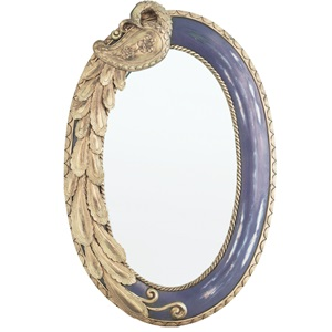 "23.75""H Oval Peacock Mirror"