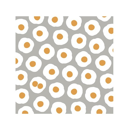 "Furoshiki 19.7"" Sq. Small Fried Eggs"