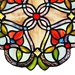 "12""H Flowering Vine Stained Glass Window Panel"