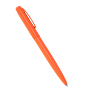 ORANGE METAL CLICKER PEN  – Black Ink