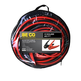 4 Gauge 20 ft Booster Cable