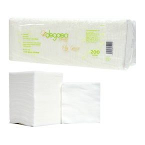 "Degasa Beauty Cotton Gauze 12-Ply 4"" x 4"""