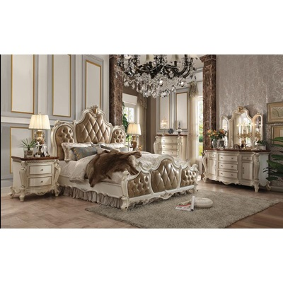 26900Q PICARDY ANTIQUE PEARL Q BED