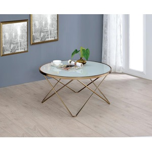 81825 WHITE COFFEE TABLE