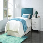 39115 BLUE QUEEN/FULL HEADBOARD