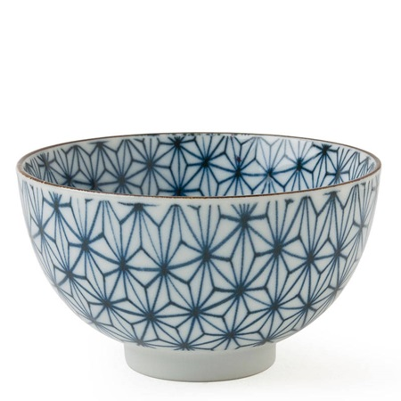 "Asanoha Colors 4.5"" Rice Bowl - Blue"