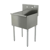 Advance Tabco 4-1-18-2X Square Corner Kitchen Sink 1-Compartment