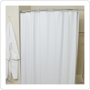 Shower Curtain, 10 Guage White