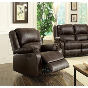 52282 BROWN ROCKER RECLINER