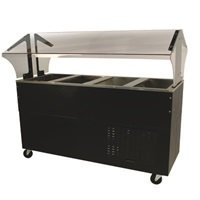 Advance Tabco BMACP4-B-SB Serving Counter w/ Mechanically Assisted Cold Pan Sneeze Guard
