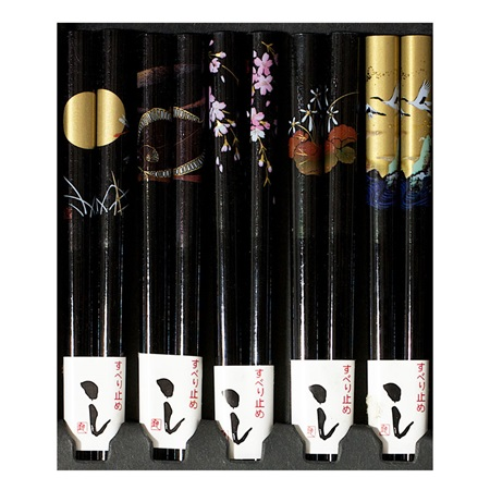 Night Scenes Black Chopsticks Set