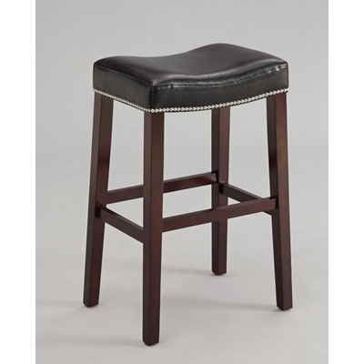 96293 COUNTER HEIGHT STOOL W/BK PU