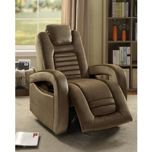 59582 BROWN POWER RECLINER